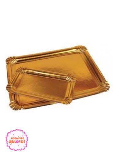 Bandeja ouro 25*34 cm