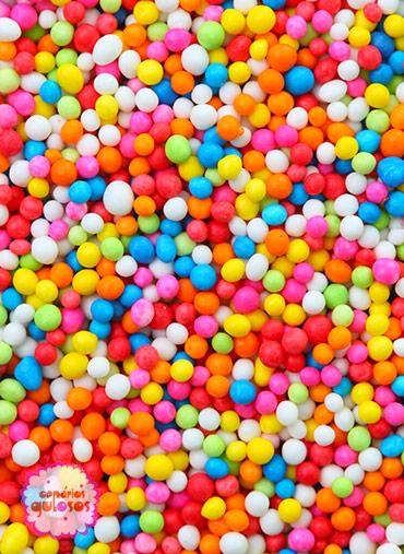 Bolinhas cores sortidas 50g