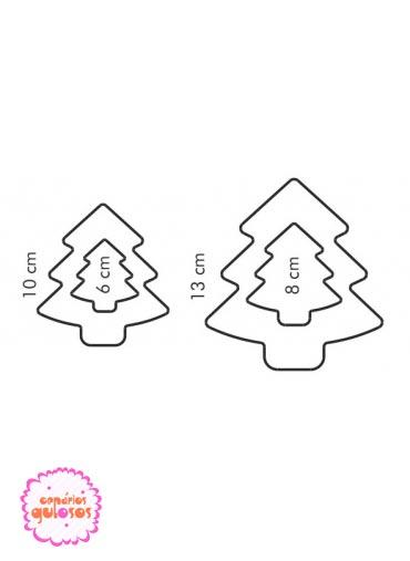 Corta massas árvore 2 lados