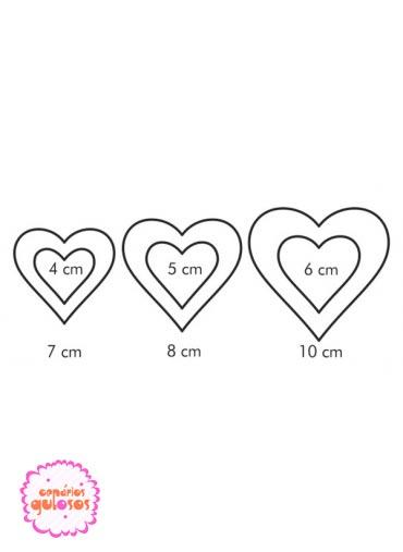 Corta massas coração 2 lados