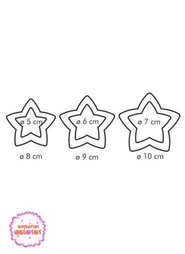 Corta massas estrela 2 lados