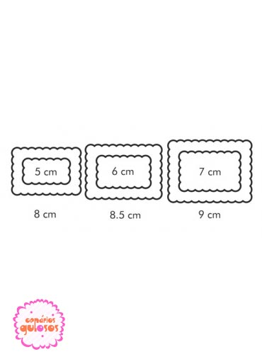 Corta massas retangular 2 lados