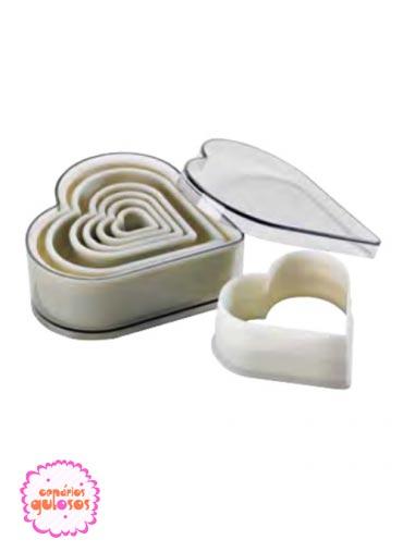 Cortantes Corações PVC cx 6 und