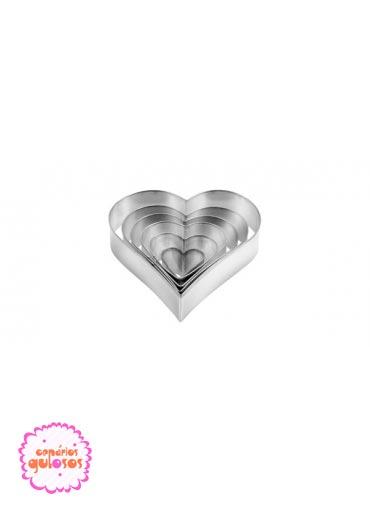 Cortantes metálicos coração conj. 6