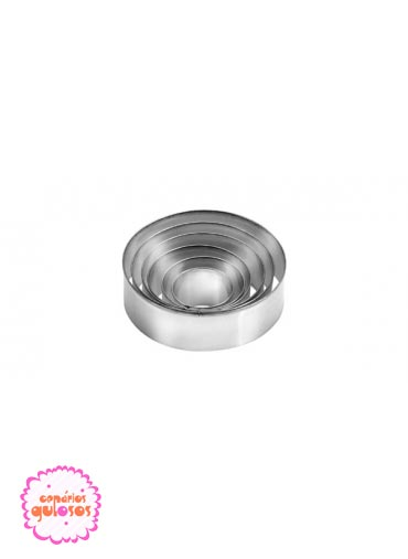 Cortantes metálicos redondos conj. 6