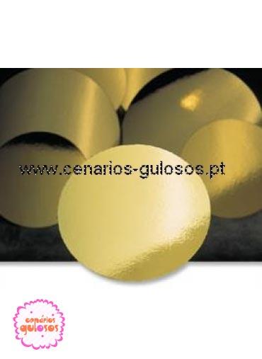 Disco ouro forte liso 13 cm