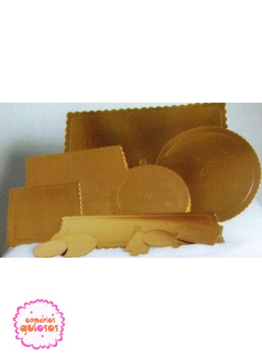 Disco ouro forte liso 24cm