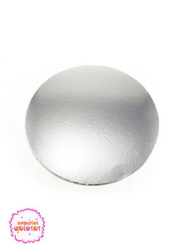 Disco prata lisa 40 cm
