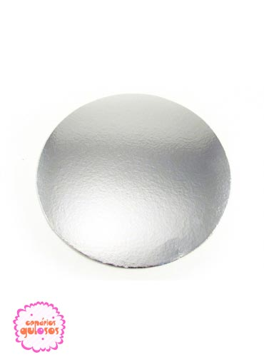 Disco Prata liso 30cm