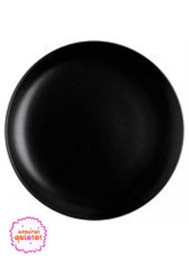 Disco preto liso 30cm