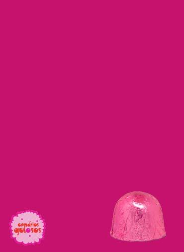 Folha Alumínio Bombons Rosa 18*18cm - 100gr