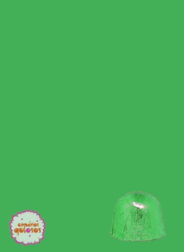 Folha alumínio bombons Verde 18*18cm - 100gr