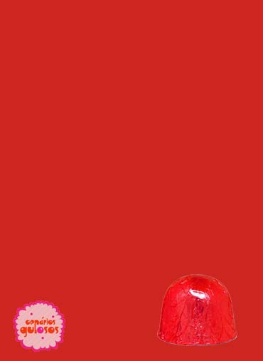 Folha alumínio bombons vermelho 18*18cm - 100gr
