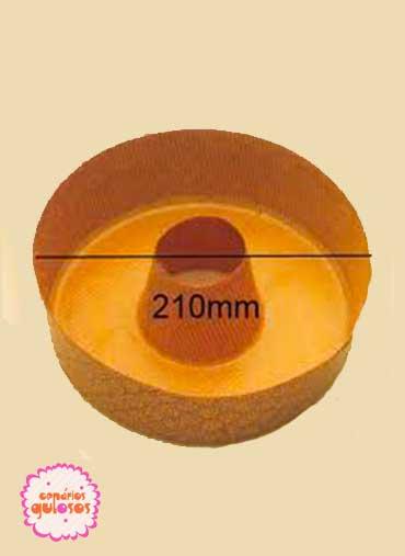 Forma papel canelado Redonda com cano
