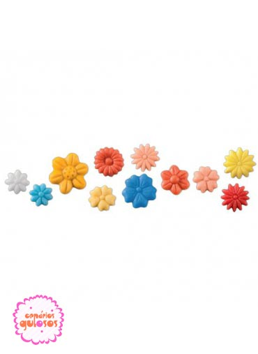 Molde Silicone Flores