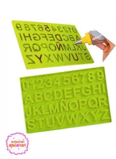 Molde Silicone Letras e Numeros