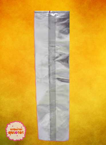 Saco celofanec/ fole grd - 32*10cm