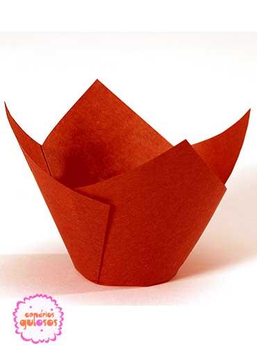 Tulipas Papel vermelhas conj. 50