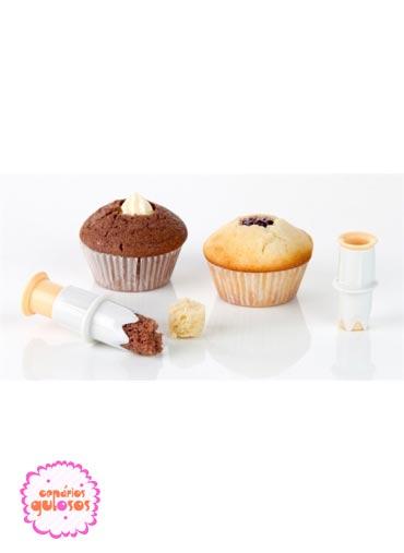 Utensílio para rechear cupcakes