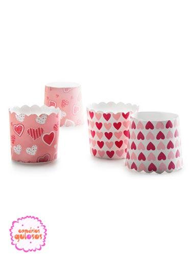 Formas cartão cupcakes coração 20 unds