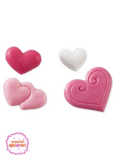 Molde Silicone Corações