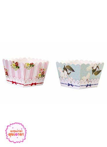 Formas cupcakes quadradas 12und