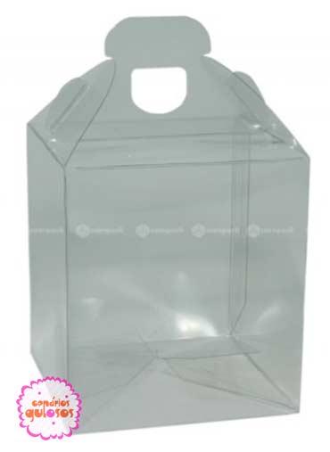 Caixa acetato com pega 1 cupcake