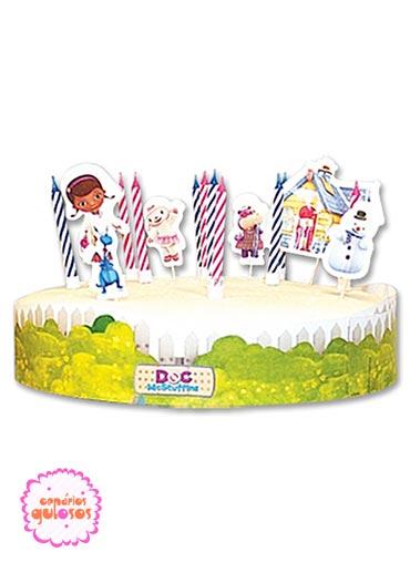 Kit Decoração de bolos Dra. Brinquedos