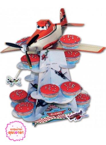 Expositor Cupcakes Aviões