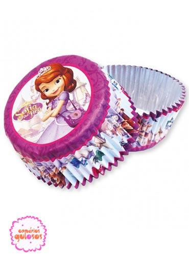 Formas cupcakes Princesa Sofia conj. 24 und