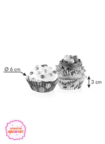 Formas Papel cupcakes coloridas conj.60
