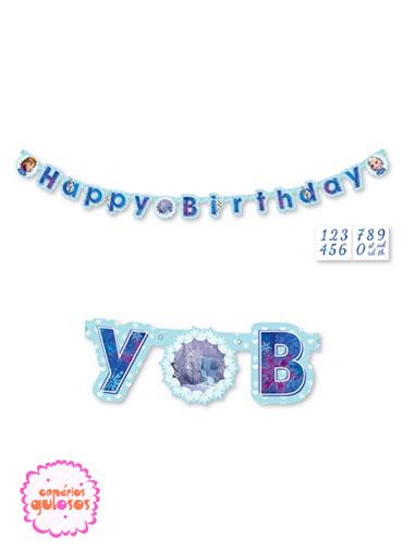 Faixa Happy Birthday Frozen
