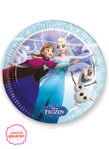 Pratos Frozen Gelo 23cm - 8 und