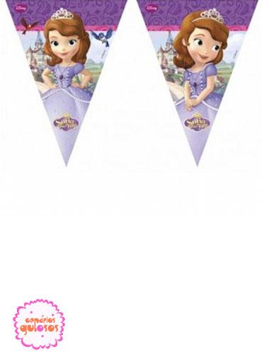 Bandeirinhas triangulares Princesa Sofia
