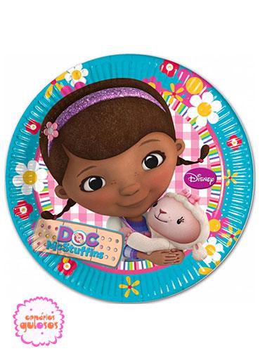 Pratos Doutora Brinquedos 23cm - 8 und