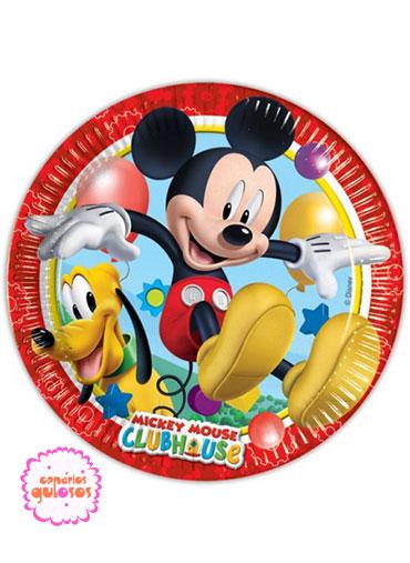 Pratos Mickey 20cm - 8 und