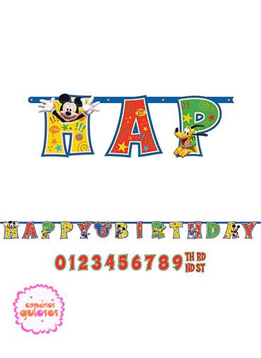 Faixa Happy Birthday Mickey