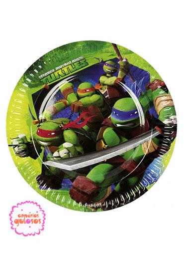 Pratos Tartarugas Ninja 18cm - 8 und