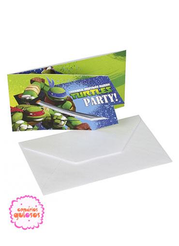 Convites Tartarugas Ninja - 6 und