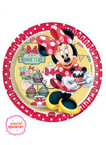 Pratos Minnie Café 20cm - 8 und