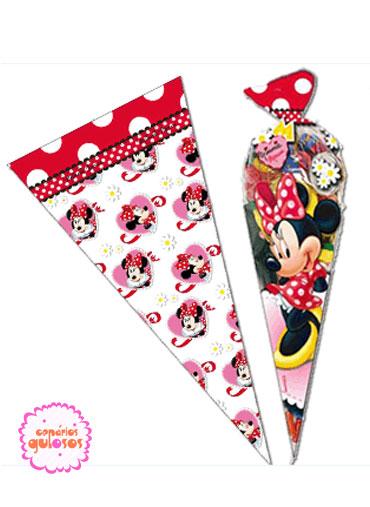 Sacos celofane cone Minnie - 10 und