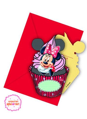 Convites Minnie Café - 6 und