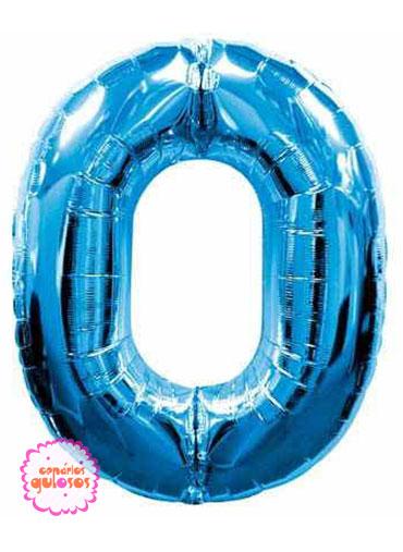 Balão Azul Escuro nº 0