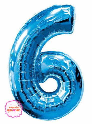 Balão Azul Escuro nº 6
