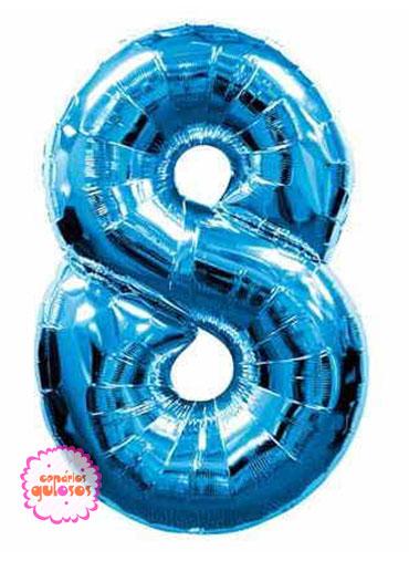 Balão Azul Escuro nº 8