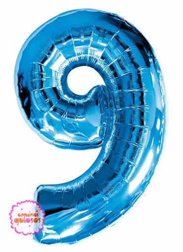 Balão Azul Escuro nº 9
