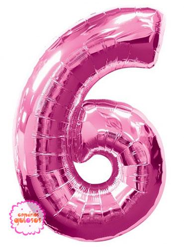 Balão Rosa Choque nº 6