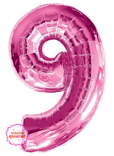 Balão Rosa Choque nº 9