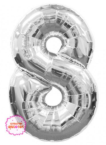 Balão Prateado nº 8