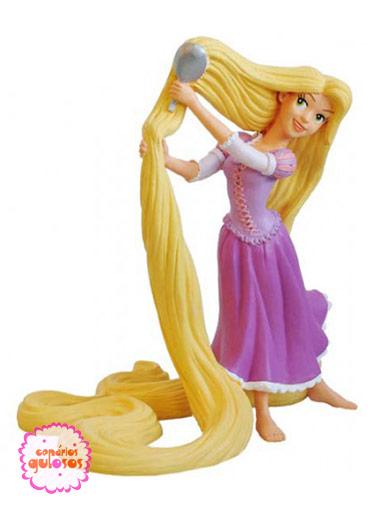 Rapunzel pentear cabelo PVC